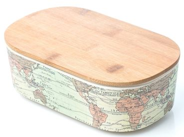 Bamboo Lunchbox Deluxe - World Map
