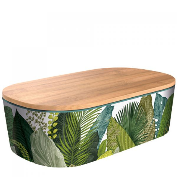 Bamboo Lunchbox Deluxe - Exotic Leaves