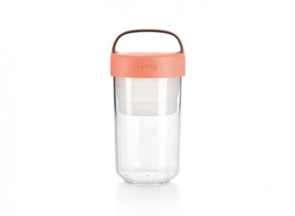 Lékué Jar to go 600 ml - coral